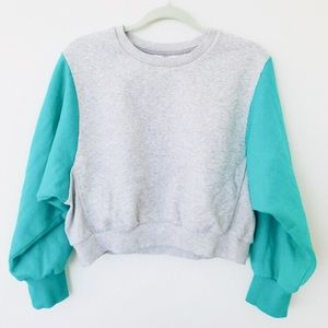 Cropped Joy Lab crew-neck sweatshirt